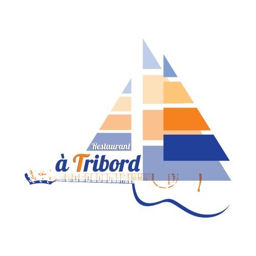 Logo Restaurant à Tribord fond blanc